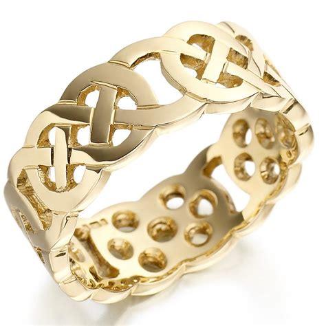 wedding knot wedding ring mens gold celtic knot wedding band at