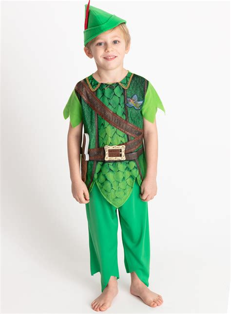 fancy dress disney peter pan green costume   years