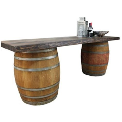 wine barrel bar table rent wine barrel buffet bar table from ct rental center