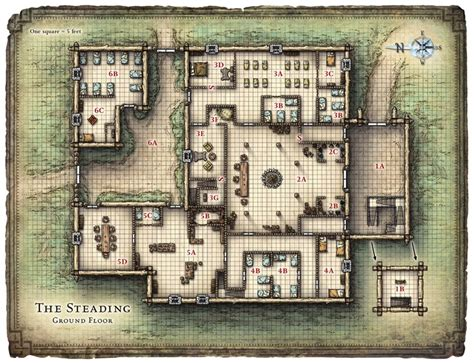 d d floor plans steading tavern inn dungeons and dragons
