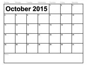 printable calendar templates 2015 october 2015 calendar printable template 8 templates