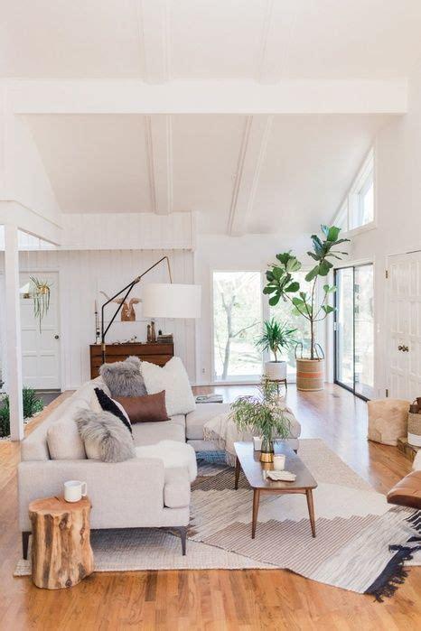 mid century modern living room enlivening  home