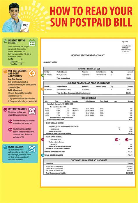 authorization letter for postpaid application sun postpaid faqs