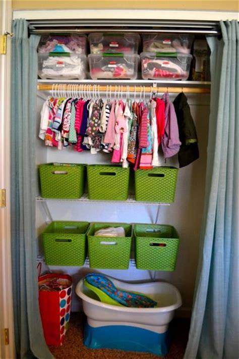 how to organize nursery closet small space organization baby clothes storage and