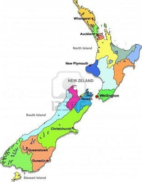 political map of new zealand neuseeland politische karte