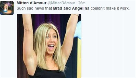 viewers react to quot the new brad quot on seven year switch reunion brangelina divorce gives explosion of aniston