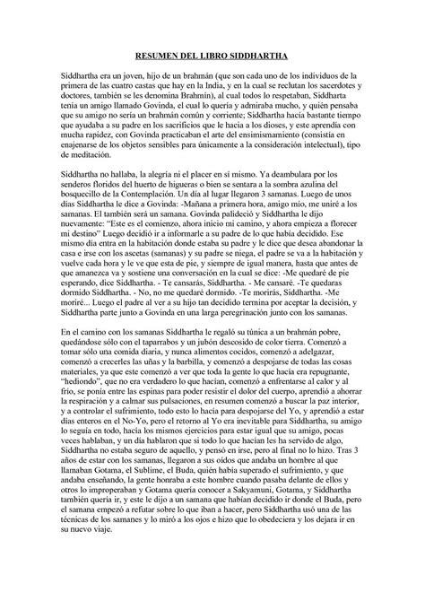 Calaméo - RESUMEN DEL LIBRO SIDDHARTHA