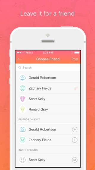 design knit app knit app lets you leave hidden location based messages