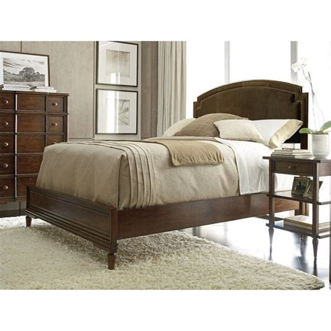 Stanley Furniture Bedroom Sets Stanley Furniture Classic Portfolio Vintage Upholstered Bed 3 Bedroom Set In Herloom Cherry