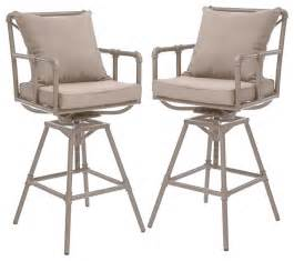 Swivel Wicker Patio Chairs Tallahassee Outdoor Adjustable Swivel Bar Stools Set Of 2