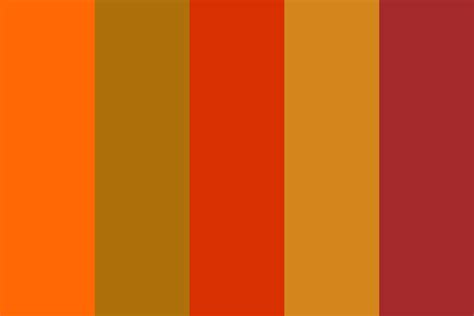 Fall Color Pallette | colors of fall color palette