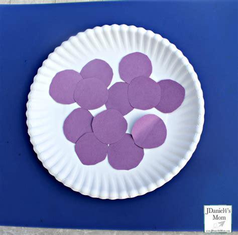 Purple Craft Paper - horner paper plate pie craft