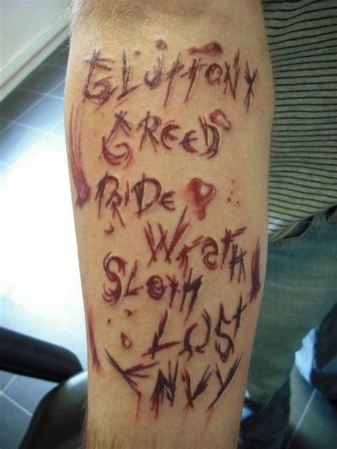 tattoos are a sin 7 deadly sins tattoos fonts