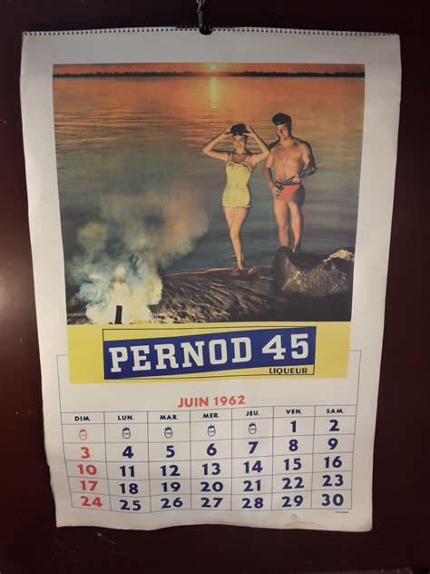 Calendrier De 1962 Calendrier Pastis 51 1962