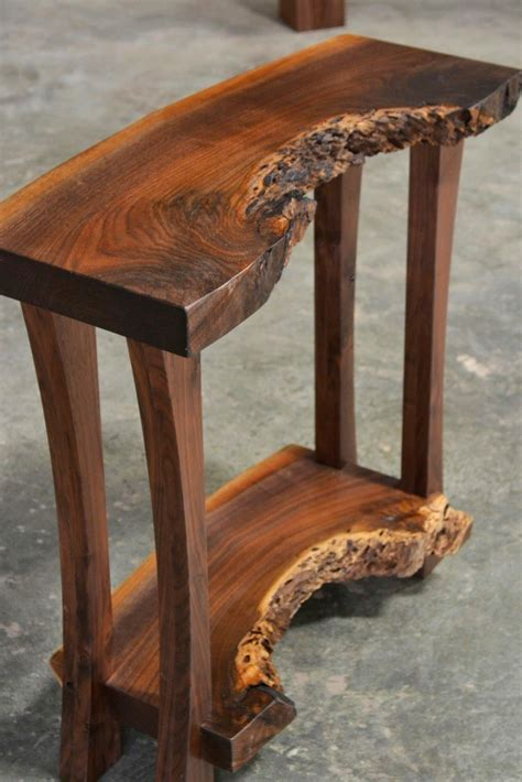 live edge side table read live edge walnut console table corey