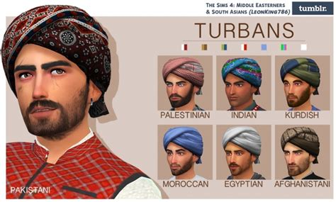 sims 3 custom content middle east turbans recolored by leonking786 at the sims 4 middle