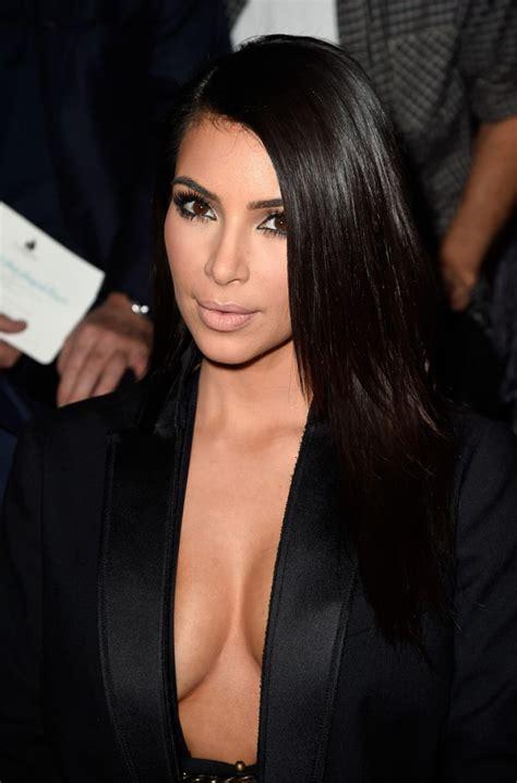 kim kardashian paris fashion week in paris lanvin show september 2014