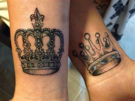 king and queen tattoo for couples king and queen couples tattoo tattoos pinterest