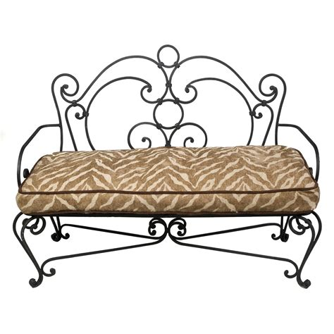 wrought iron backless bench wrought iron bench ideas for every room