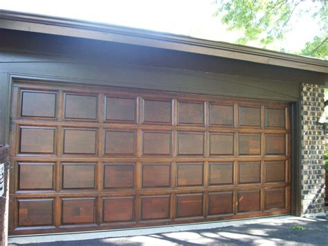 Wood Painted Garage Doors Wood Garage Door Refinishing Contemporary Shed Chicago By Painting In Partnership Inc