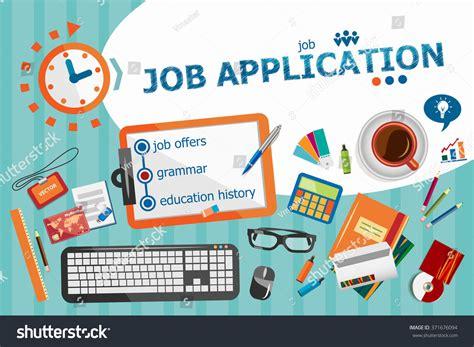 banner design application job application design concept typographic poster stock