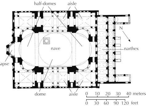 floor plan of hagia sophia plan hagia sophia constantinople istanbul anthemius