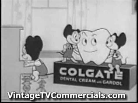 vintage tv commercials from the 1940s 50s 7 ads old colgate tv commercial with mighty mouse youtube