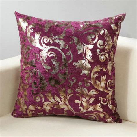luxury silver floral cushion throw pillow cover sofa