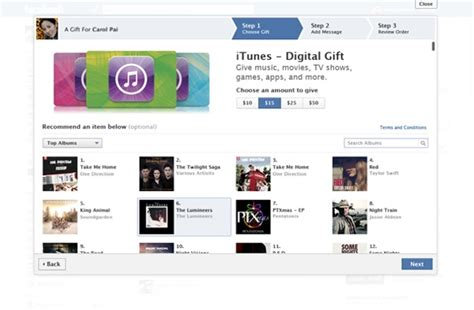 Facebook E Gift Cards - disponibili le itunes gift cards digitali su facebook gift ispazio