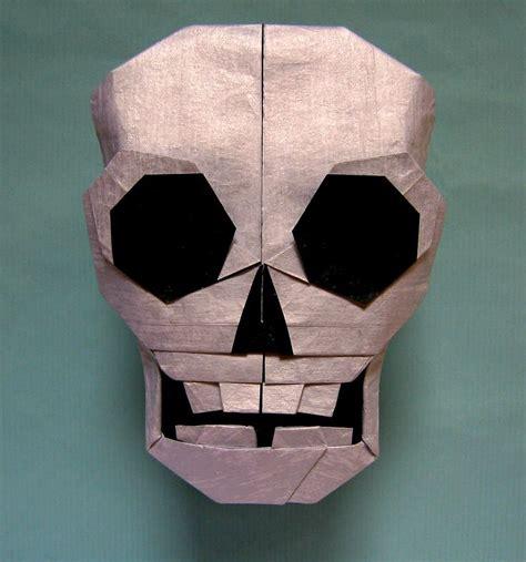 Skull Origami - skull origami craft and origami