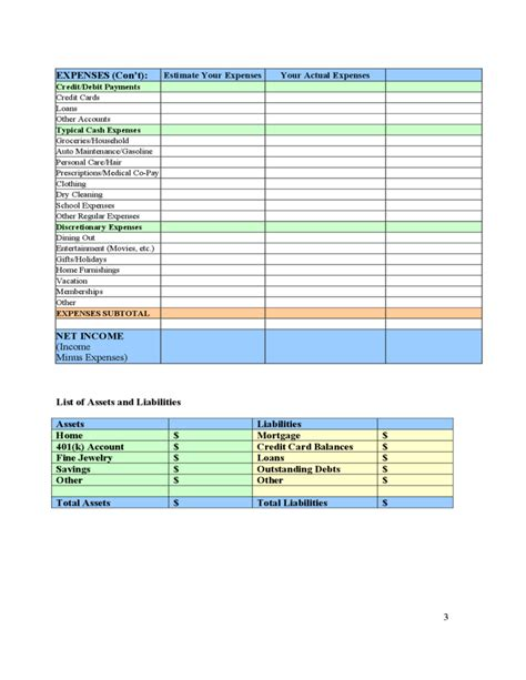 Sle Monthly Budget Template For Adults Families Free Download Budget Template For Adults
