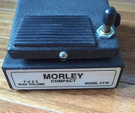 Morley Mini Wahvolume Made In Usa vintage 1980s morley compact cfw fuzz wah volume effects