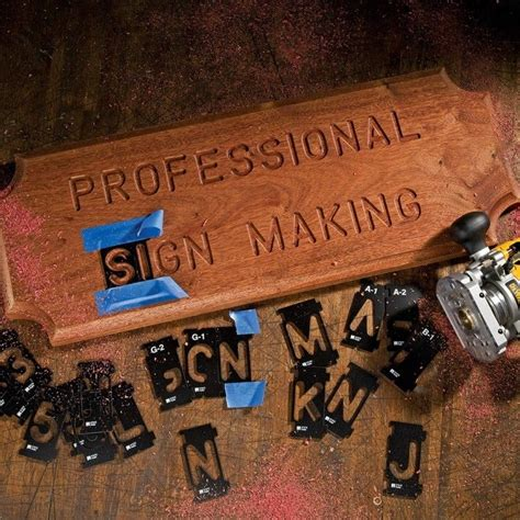 Router Alphabet Templates rockler interlock signmaker s templates state park font kits rockler woodworking and hardware
