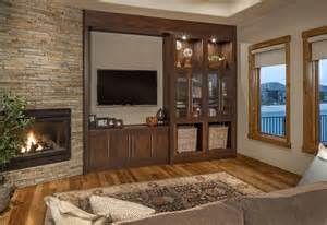 Home Interior Design Omaha rustic modern lake house transitional living room