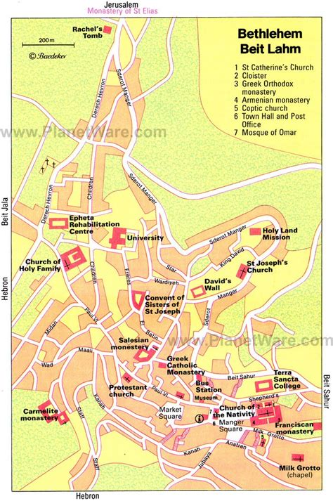 map of bethlehem and jerusalem 11 top tourist attractions in bethlehem planetware