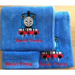 thomas bathroom set personalised embroidered thomas the tank engine full towel