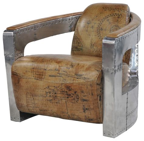 aviator armchair sinclair club chair with leather and spitfire arm aviator