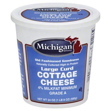 cottage cheese brands cottage cheese brands michigan brand 4 milkfat large curd
