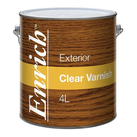 clear exterior paint enrich 4l clear exterior varnish bunnings warehouse