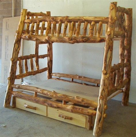 log beds cheap log furniture plans recycled things