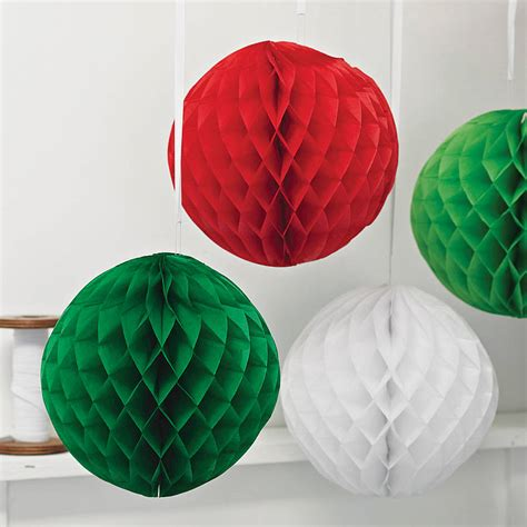 Paper Balls Craft - paper luxe honeycomb tissue by pearl and earl