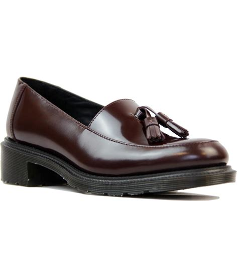 loafers doc martens dr martens favilla mod retro tassle loafers in oxblood