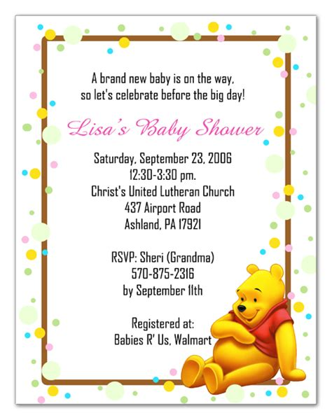 winnie the pooh invitation template winnie the pooh baby shower invitations gangcraft net