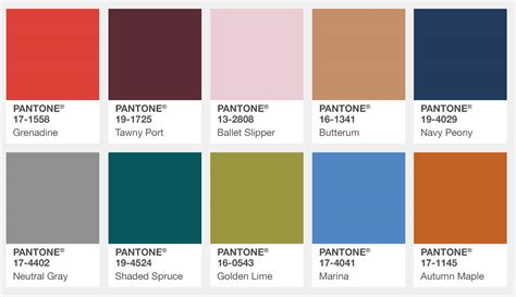 pantone palette graphics pantone fashion color report fall 2017 color