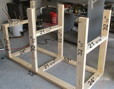 table  workbench  wood storage diy table