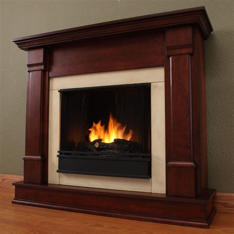 real silverton ventless gel fireplace in mahogany