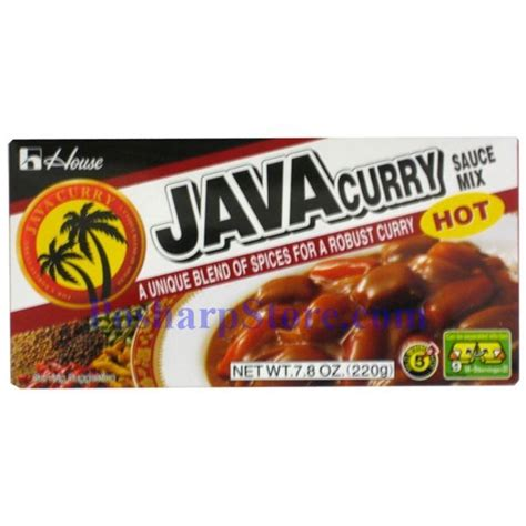 House Foods Java Curry Sauce Mix Bumbu Saus Kari house foods java curry sauce mix spicy 7 8 oz