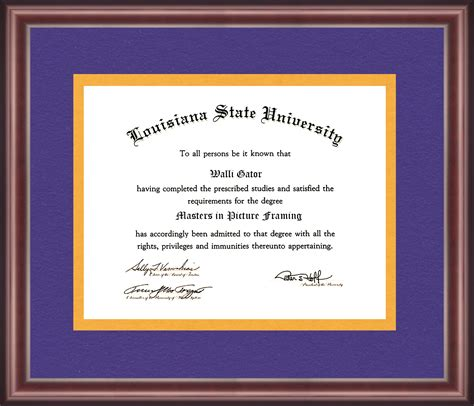 Lsus Mba Degree Sle by Louisiana State Diploma Frame Talking Walls