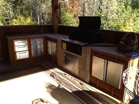 outdoor kitchen  built  traeger outdoor living