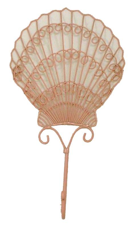 shell bathroom decor tiki pink scallop sea shell bath decor wall hook hanger ebay